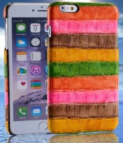 Genuine Leather Rainbow Pattern Case for HTC 10