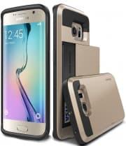 Verus Gold Galaxy S6 Edge Case Damda Card Slide Series