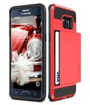 Verus Damda Hard Credit Card ID Holder Case For Galaxy S6 Edge Plus Red