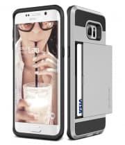 Verus Damda Hard Credit Card ID Holder Case For Galaxy S6 Edge Plus Satin Silver