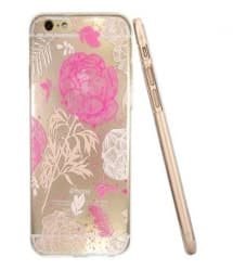 Ultra Thin Cute & Elegant Wonderland Flower Pattern iPhone 6 Plus 5.5 Jelly TPU Case