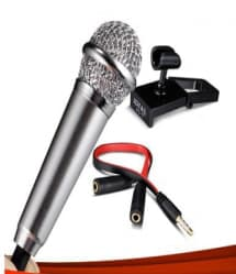 Portable 3.5mm Mini Karaoke Mic Microphone Studio Speech For iPhone and Android Phones