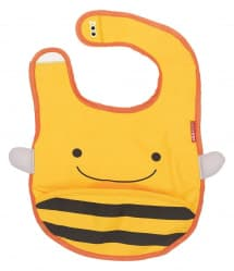 Skip Hop Zoo Tuck-Away Baby Bib Bee