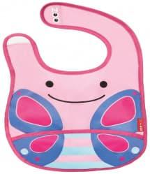 Skip Hop Zoo Tuck-Away Baby Bib Butterfly