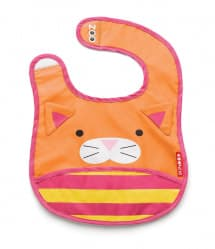 Skip Hop Zoo Tuck-Away Baby Bib Cat
