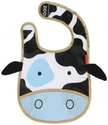 Skip Hop Zoo Tuck-Away Baby Bib Cow
