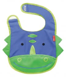 Skip Hop Zoo Tuck-Away Baby Bib Dinosaur