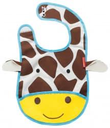 Skip Hop Zoo Tuck-Away Baby Bib Giraffe