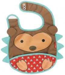 Skip Hop Zoo Tuck-Away Baby Bib Hedgehog