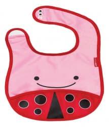 Skip Hop Zoo Tuck-Away Baby Bib Ladybug