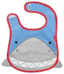 Skip Hop Zoo Tuck-Away Baby Bib Shark