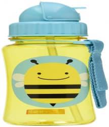 Skip Hop Zoo Little Kid Straw Bottle Bee