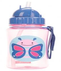 Skip Hop Zoo Little Kid Straw Bottle Butterfly