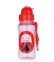 Skip Hop Zoo Little Kid Straw Bottle Ladybug