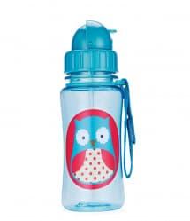 Skip Hop Zoo Little Kid Straw Bottle Owl