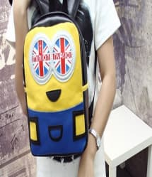 Minion Invasion Leather Feel Backpack 10 Inch