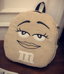 Beige M&M Backpack - 15 Inch