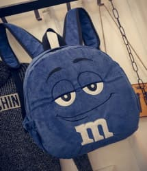 Blue M&M Backpack - 15 Inch