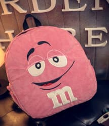 Pink M&M Backpack - 15 Inch