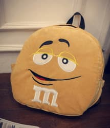Yellow M&M Backpack - 15 Inch