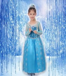 Halloween Masquerade Ball Party Frozen Elsa Dress Costume