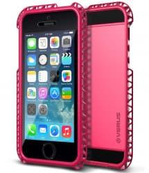Verus Limpid Lanyard Series iPhone 5S / 5 Case Hot Pink