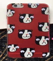 Boxer Dog Googly Eyes Case for iPhone 6 6s Plus