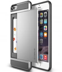 Verus iPhone 6 Plus Case Damda Slide Series Satin Silver