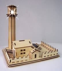 DIY Wooden Solar Kits Lighthouse
