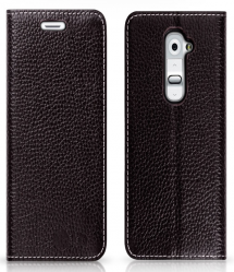Premium Leather Flip Case for LG G2