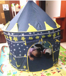 Kids Castle Shaped Cubby Camping Tent for Boys and Girls
