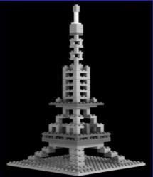Loz Nano Block Architecture Series Paris Eiffel Tower