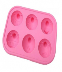 Emoticon Funny Faces Expression Ice Cube Cake Mold