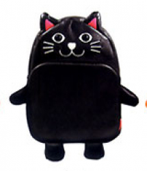 Kids Preschool Kindergarten Cute Backpack Rucksack Black Cat