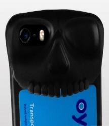Halloween Skull Card Headphone Holder iPhone 5 5s SE Case