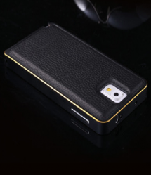Ultra Thin Metal and Leather Galaxy Note 4 Protective Case