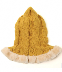 LemonKid Knitted Stylish Scarf Faux Fu5r Christmas Hat Kids