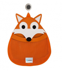 3 Sprouts Cute Animal Fox Bath Storage Bag for Kids