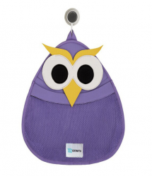 3 Sprouts Cute Animal Owl Bath Storage Bag for Kids