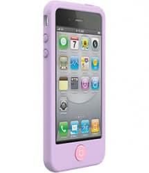 SwitchEasy Colors Pastels Lilac Purple Silicone Case for iPhone 4