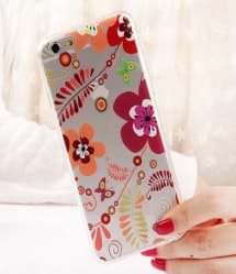 Ultra Thin Cute & Elegant Wonderland Flower Pattern iPhone 6 6s 4.7 Jelly TPU Case