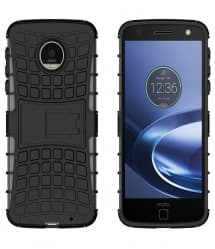 Tough Shockproof Case for Moto Z Force With Stand