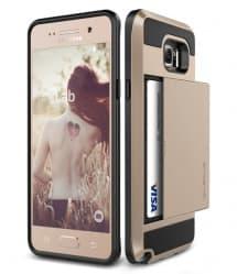 Verus Damda Hard Credit Card ID Holder Case For Galaxy Note 5 Gold