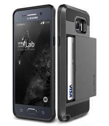 Verus Damda Hard Credit Card ID Holder Case For Galaxy Note 5 Steel Silver