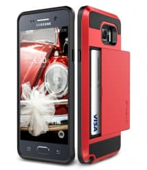 Verus Damda Hard Credit Card ID Holder Case For Galaxy Note 5 Red