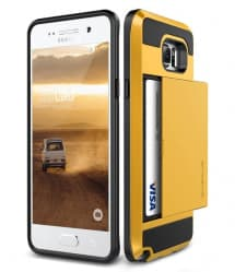 Verus Damda Hard Credit Card ID Holder Case For Galaxy Note 5 Yellow