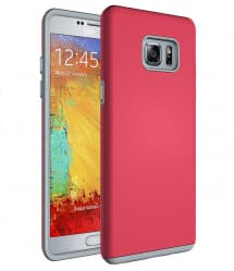 Tough Armor Type Protective Rubber Case for Galaxy Note 7 Red