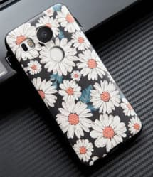 Daisy Floral Pattern 3D TPU Case for Nexus 5X