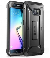Galaxy S6 Edge Supcase Unicorn Beetle Pro Rugged Holster Case Black/Black
