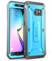 Galaxy S6 Edge Supcase Unicorn Beetle Pro Rugged Holster Case Blue/Black